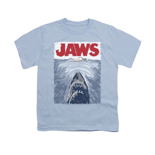 Image for Jaws Youth T-Shirt - Graphic Poster