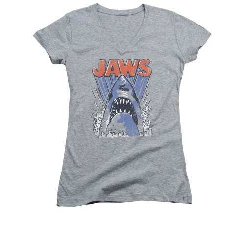 Image for Jaws Girls V Neck T-Shirt - Comic Splash