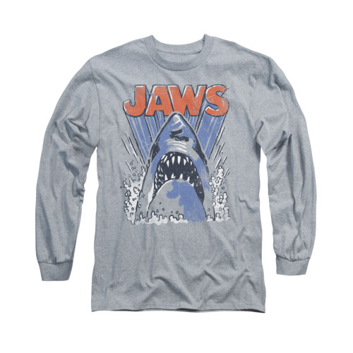 Image for Jaws Long Sleeve T-Shirt - Comic Splash