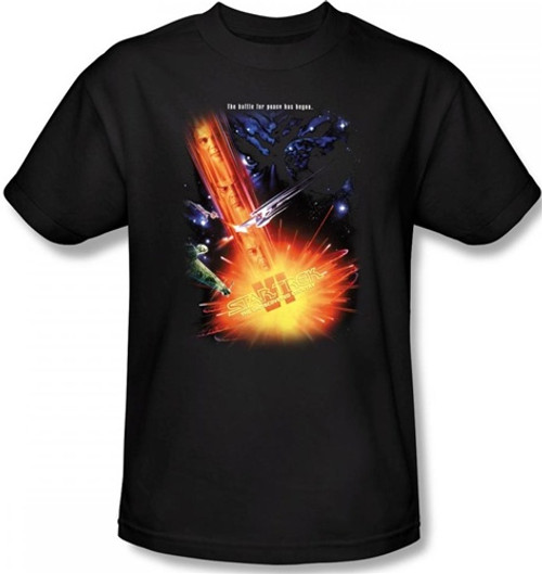Image Closeup for Star Trek Movie T-Shirt - VI the Undiscovered Country
