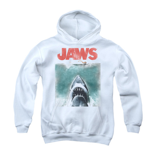 Image for Jaws Youth Hoodie - Vintage Poster
