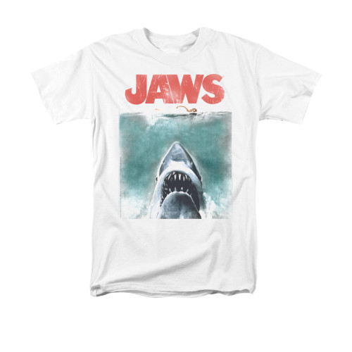 Image for Jaws T-Shirt - Vintage Poster