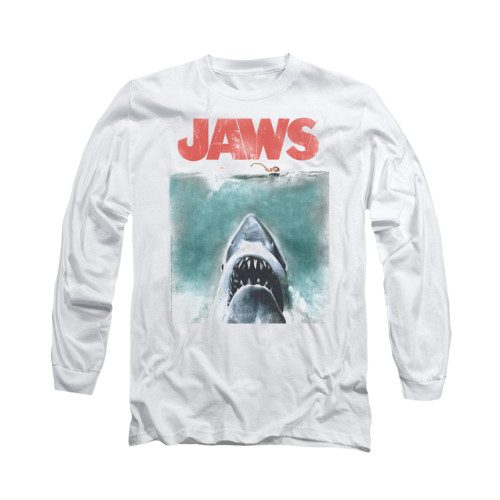 Image for Jaws Long Sleeve T-Shirt - Vintage Poster