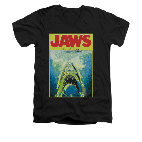 Image for Jaws V-Neck T-Shirt - Bright Jaws