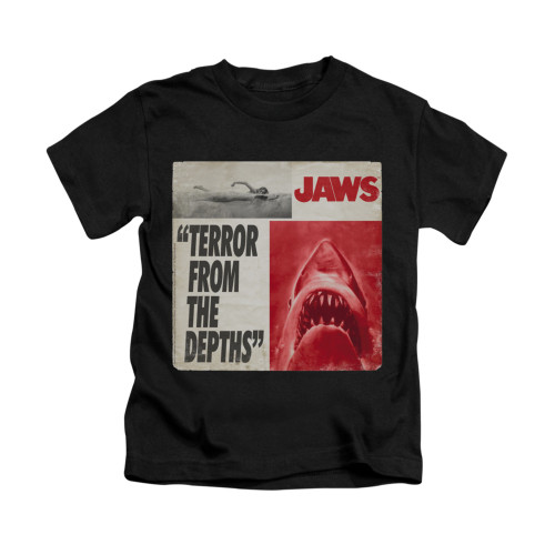 Image for Jaws Kids T-Shirt - Terror