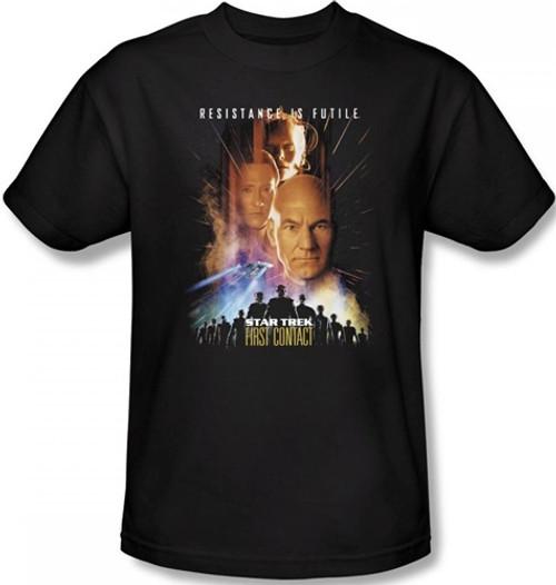 Image Closeup for Star Trek Movie T-Shirt - First Contact