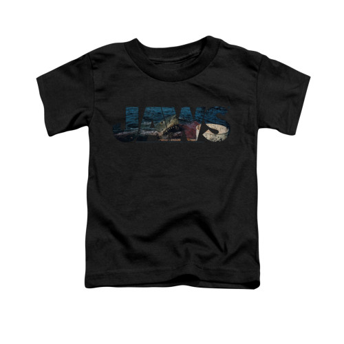 Image for Jaws Toddler T-Shirt - Logo Cutout