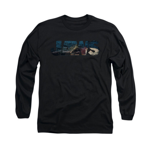 Image for Jaws Long Sleeve T-Shirt - Logo Cutout
