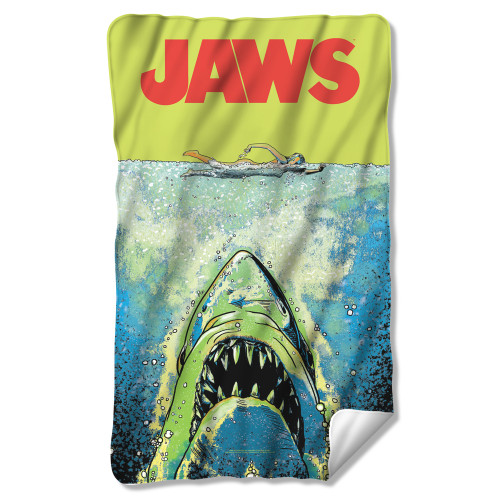 Image for Jaws Fleece Blanket - Attack