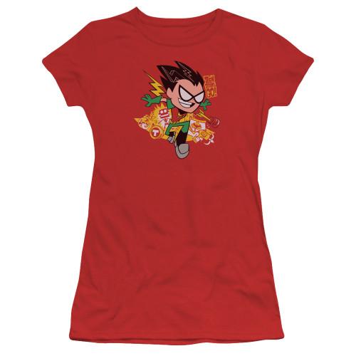 Image for Teen Titans Go! Girls T-Shirt - Robin