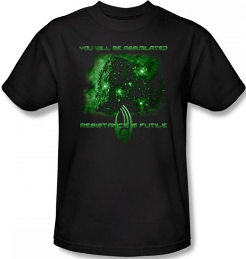 Image Closeup for Star Trek T-Shirt - Borg Assimilate