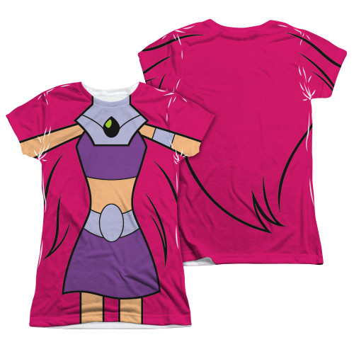 Image Closeup for Teen Titans Go! Girls Sublimated T-Shirt - Starfire Uniform