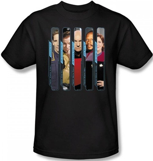 Image Closeup for Star Trek T-Shirt - the Captains