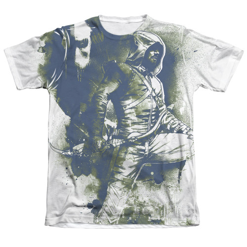 Image Closeup for Arrow Sublimated T-Shirt - Spray Paint