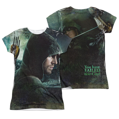 Image Closeup for Arrow Girls Sublimated T-Shirt - Hero