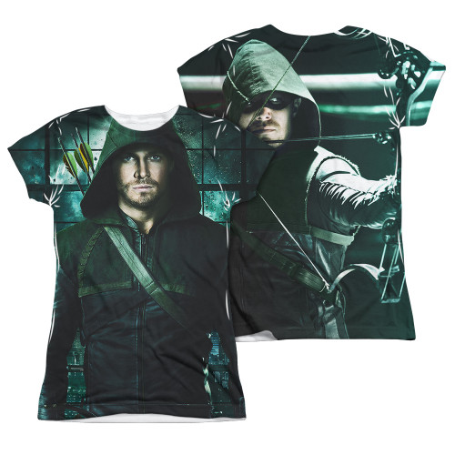 Image Closeup for Arrow Girls Sublimated T-Shirt - Two Sides