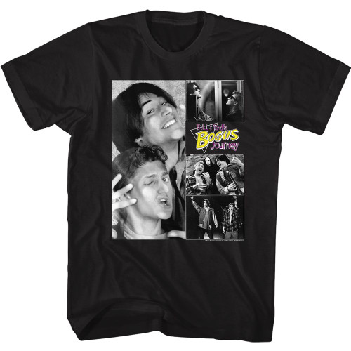 Image for Bill & Ted's Excellent Adventure T-Shirt - Bogus Journey Collage