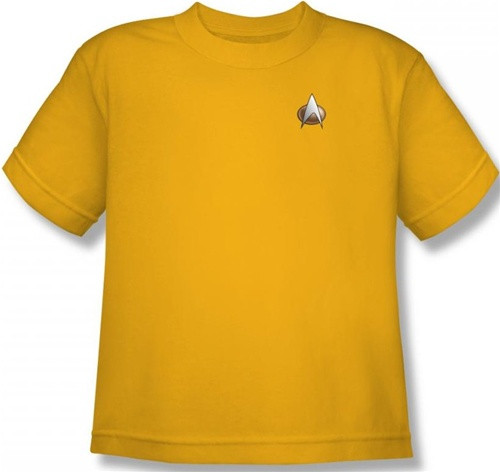 Image for Star Trek the Next Generation Uniform Youth T-Shirt - Engineering