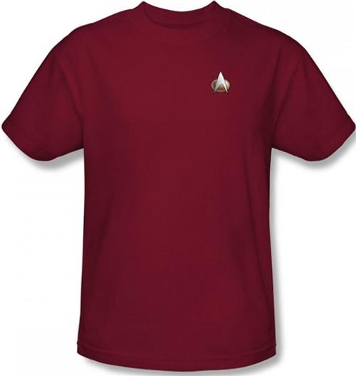 Image for Star Trek the Next Generation Uniform T-Shirt - Command