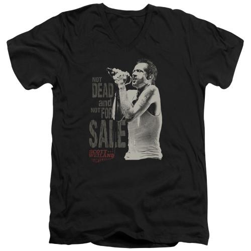 Image for Scott Weiland V-Neck T-Shirt - Not Dead