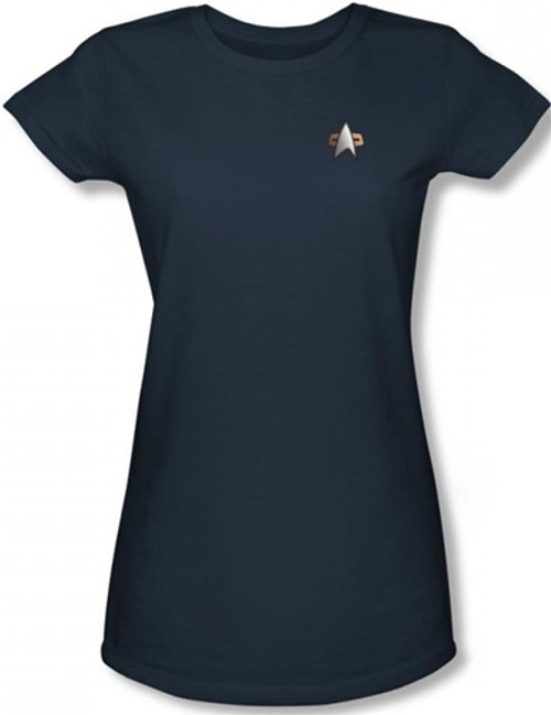 Image for Star Trek Deep Space Nine Uniform Girls T-Shirt - Science