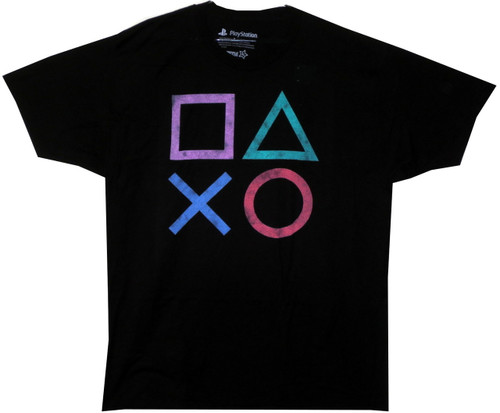 Image for Playstation Vintage Buttons T-Shirt