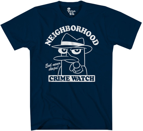 Image for Phineas and Ferb Neighborhood Watch T-Shirt