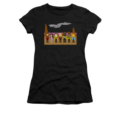 Image for Star Trek the Next Generation Girls T-Shirt - 8 Bit Crew