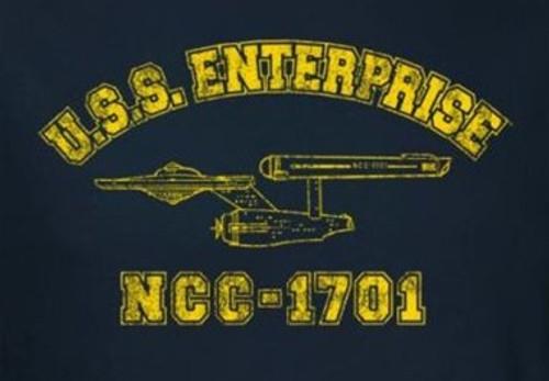 Image for Star Trek T-Shirt - Enterprise Athletic