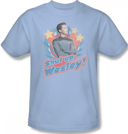 Image Closeup for Star Trek T-Shirt - Shut Up, Wesley!