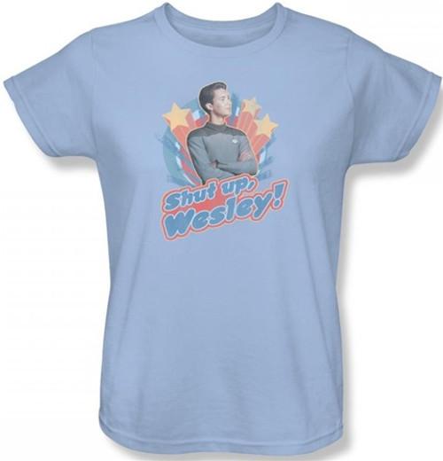 Image for Star Trek Womans T-Shirt - Shut Up, Wesley!