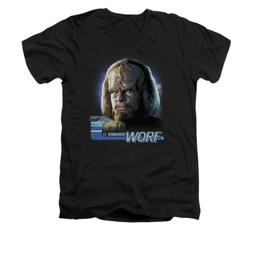 Image for Star Trek the Next Generation V Neck T-Shirt - Worf