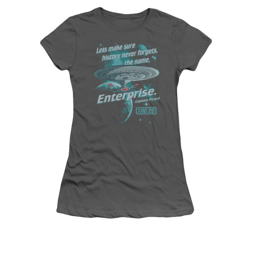 Image for Star Trek the Next Generation Girls T-Shirt - History Never Forgets