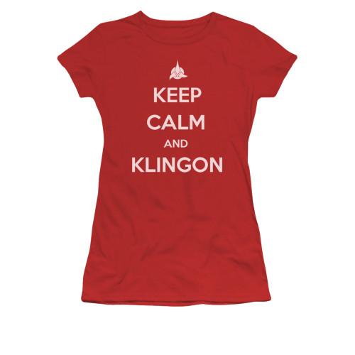 Image for Star Trek the Next Generation Girls T-Shirt - Keep Calm and Klingon