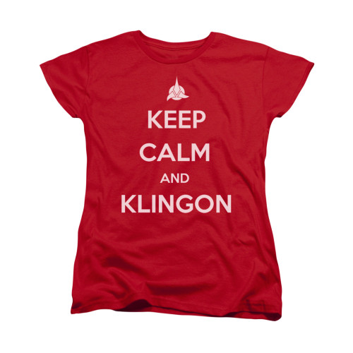 Image for Star Trek the Next Generation Womans T-Shirt - Keep Calm and Klingon