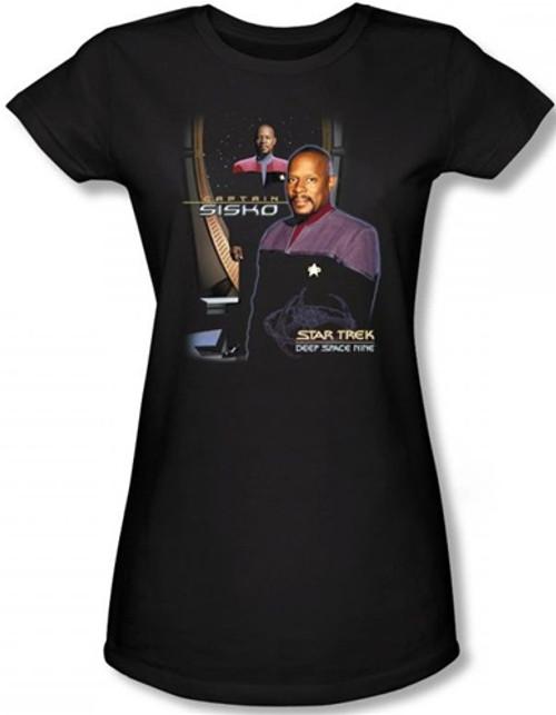 Image for Star Trek Deep Space Nine Girls T-Shirt - Captain Sisko