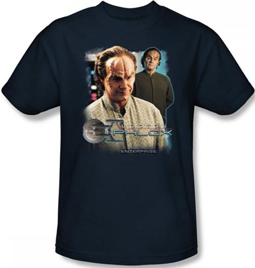 Image Closeup for Star Trek Enterprise T-Shirt - Doctor Phlox