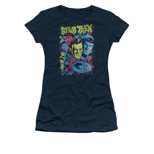 Image for Star Trek Juniors T-Shirt - Classic Crew Illustrated