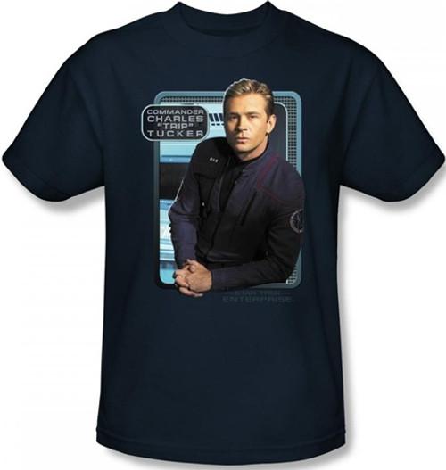 Image Closeup for Star Trek Enterprise T-Shirt - Trip Tucker