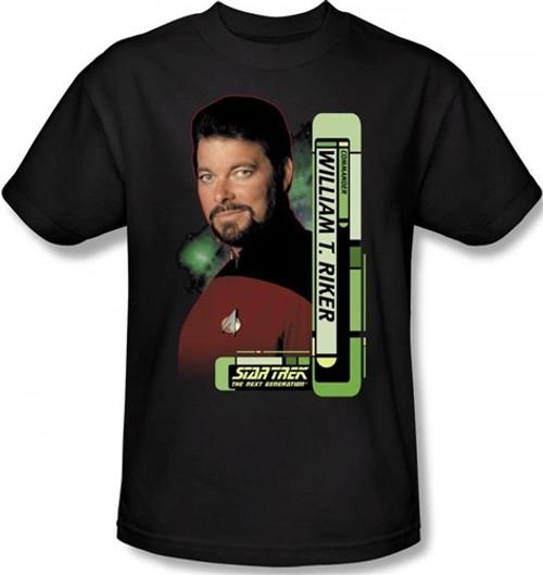 Image Closeup for Star Trek T-Shirt - Commander William T. Riker