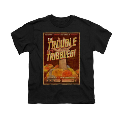Image for Star Trek Youth T-Shirt - Tribbles: the Movie Poster