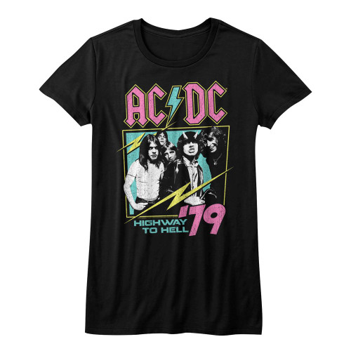 Image for AC/DC Girls T-Shirt - Neon Highway to Hell