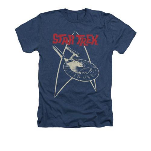 Image for Star Trek Heather T-Shirt - Ship Symbol