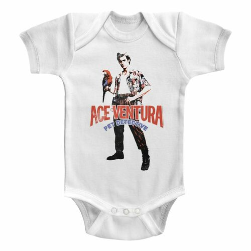 Image for Ace Ventura Red Black Blue Ace Infant Baby Creeper