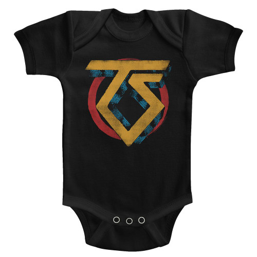 Image for Twisted Sister Vintage Logo Infant Baby Creeper