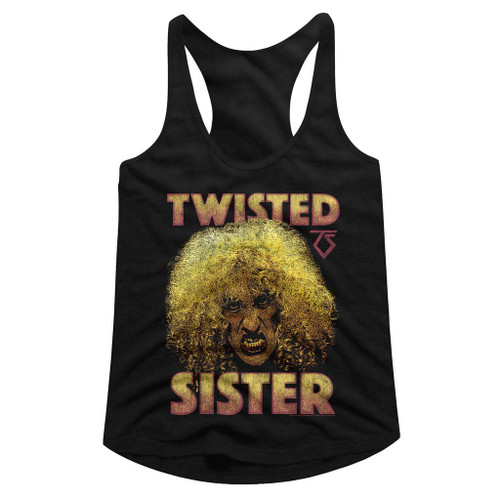 Image for Twisted Sister Dee Snider Juniors Racerback Tank Top