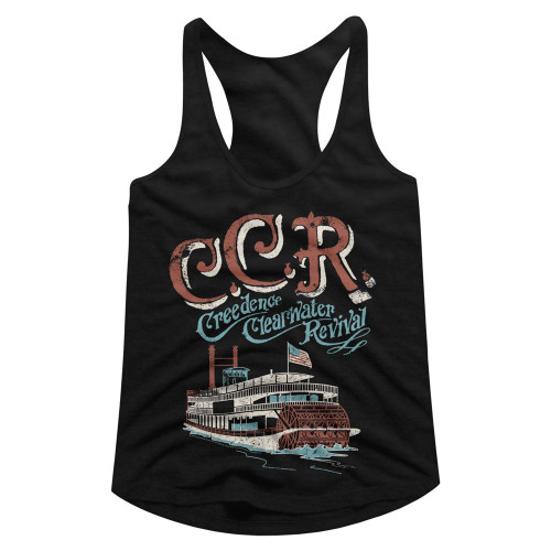 Image for Creedence Clearwater Revival Riverboat Juniors Racerback Tank Top