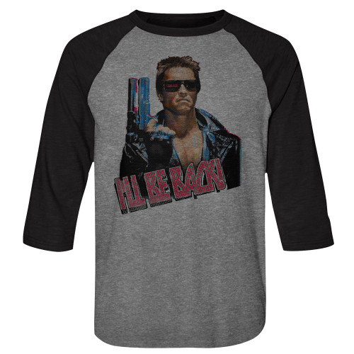 Image for The Terminator 3/4 sleeve raglan - I'll be Back