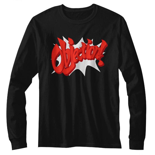 Image for Ace Attorney Long Sleeve T Shirt - Objection!