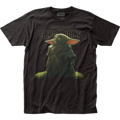 Image for Star Wars T-Shirt - The Mandalorian The Child Stargazing